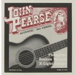 John Pearse 500XL Phosphor Bronze Acoustic Guitar String Set, Extra Light