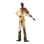 Violin Player Wall Decor