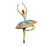 Dancer in Blue/Gold Wall Decor