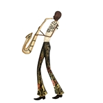 Sax Player Wall Decor