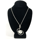 Eighth Note Necklace Silver