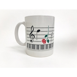Mug, Keyboard and Roses