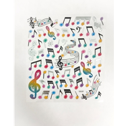 Stickers, Music Notes & Staff