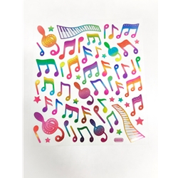 Stickers, Rainbow Music Notes