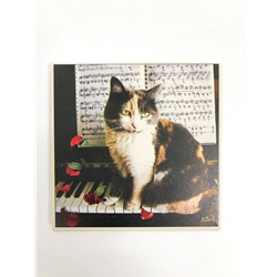 Coaster, Kitten on a Piano