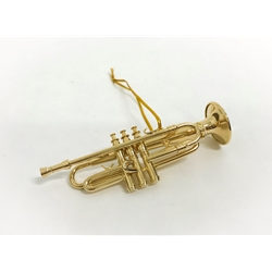 Trumpet Ornament Gold